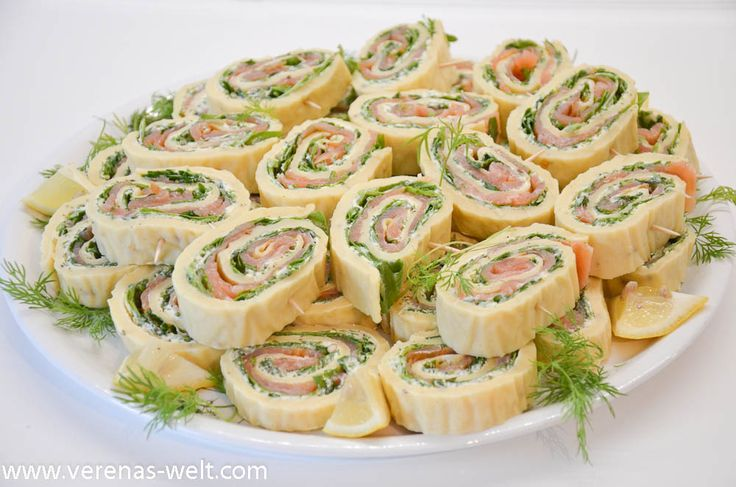 Salmon and cream cheese rolls