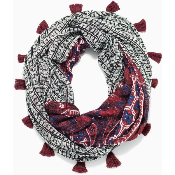 Stella & Dot Reversible Infinity Scarf - Rich Burgundy (91 CAD) ❤ liked on Polyvore featuring accessories, scarves, reversible scarves, infinity loop scarves, infinity scarf, tube scarves and burgundy infinity scarves