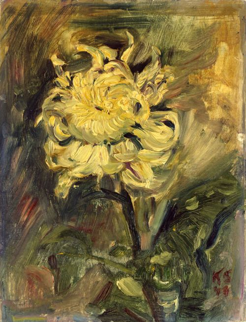 poboh: Chrysanthemum, 1946, Kurt Schwitters. Germany (1887 - 1948) - Oil on Board -