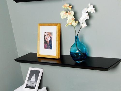 Superb Welland 36 Inch X 8 Inch X 1.25 Inch Oliver Wall Shelf Display Floating  Shelves Black Images