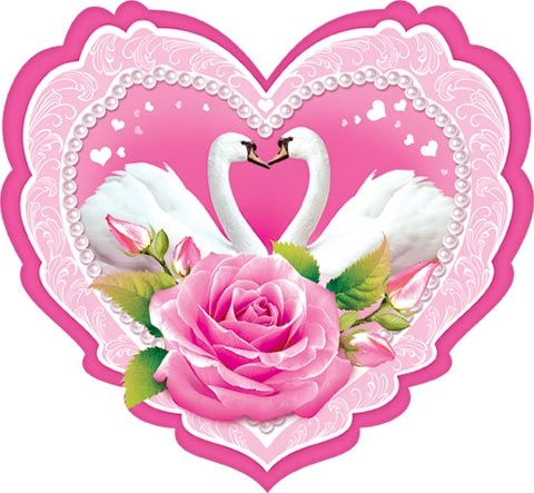 Свадебные открытки сердце, днем