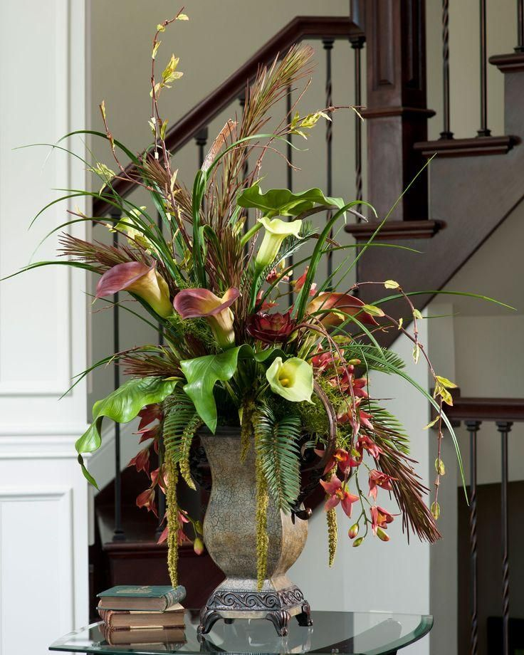 Floral arrangement in the entryway