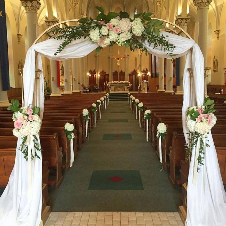 Flowers For Church Wedding Ceremony: Romantic Entrance For A Summer Wedding!