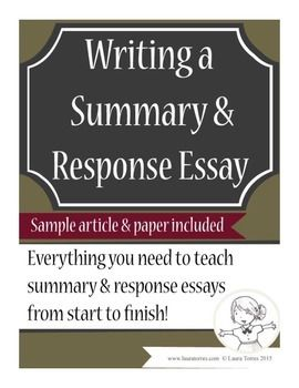 summary response essay sample