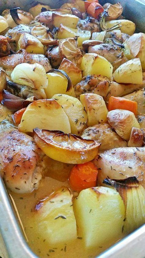 Kycklingklubbor i ugn med rostade grönsaker - ZEINAS KITCHEN