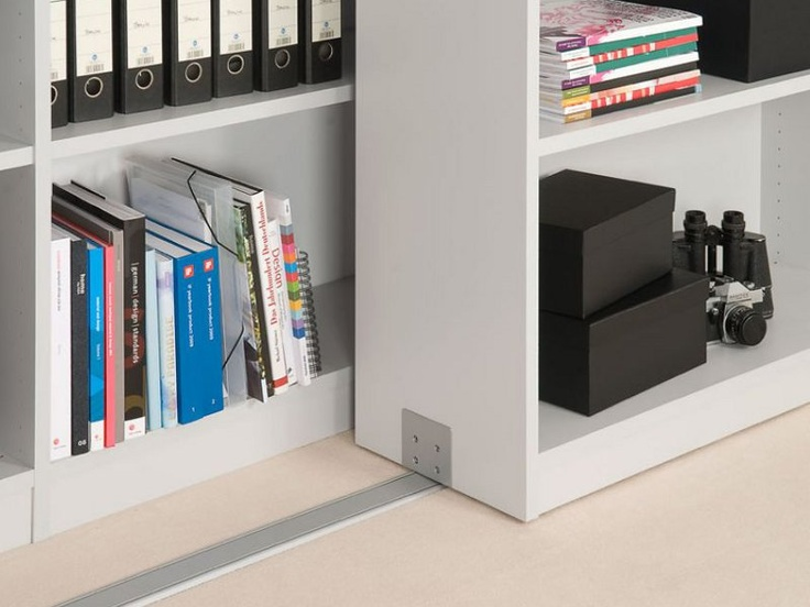 wall-mounted sliding bookcases