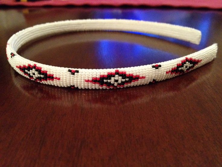 A personal favorite from my Etsy shop https://www.etsy.com/listing/226387064/native-american-beaded-headband-white
