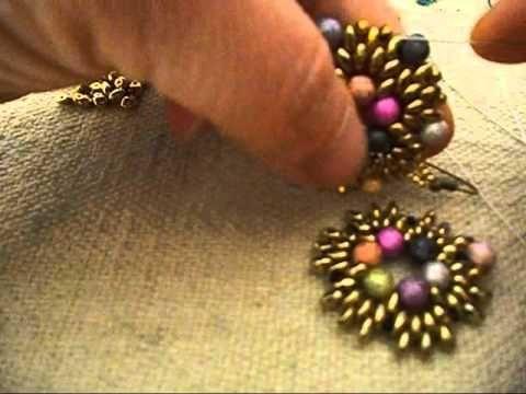 tutorial orecchini (earrings) Primavera - YouTube                                                                                                                                                                                 Más