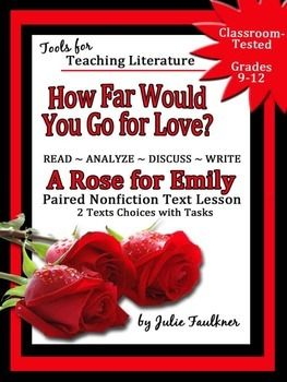 a rose for emily discussion A rose for emily we will write a custom essay sample on the paper is about an individual versus the society within the context of the book 'a rose for emily' every individual has his or her own role and impact over the society and the relationship with the members of the society.