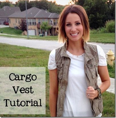 Make Your Own Cargo Vest from a 'military' jacket - just cut the sleeves off basically - via Sugar Bee Craft