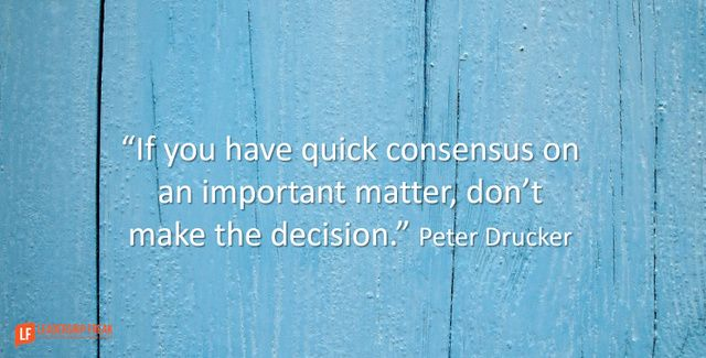 review on decision making in the leader of the future by peter drucker As leadership expert warren bennis once stated,  5 tips for better decision making  they're the future.