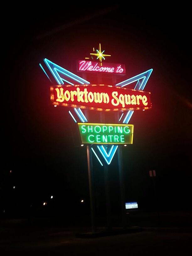 Recently restored Yorktown Square Shopping Centre, South Windsor, Grand Marais & Dominion, Windsor,  Ontario.