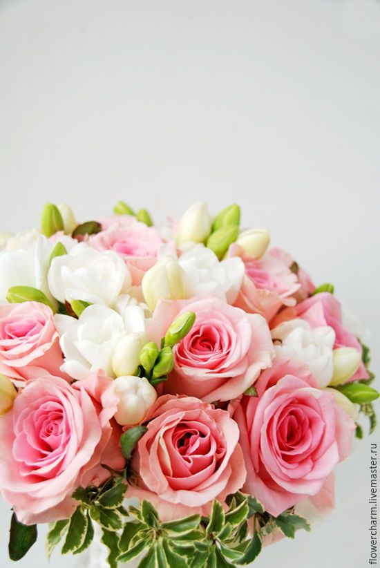 Розовый букет невесты - букет невесты, свадебный букет, букет на свадьбу, цветы на свадьбу
