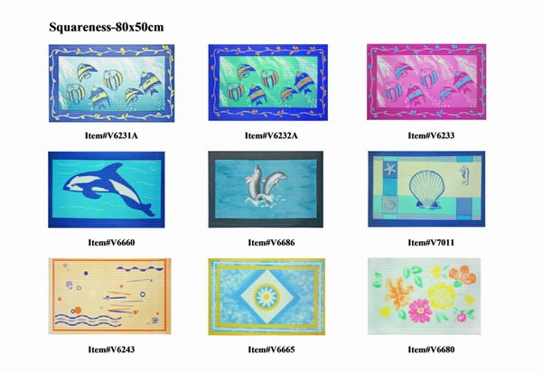 Square PVC Bath Mat Yellow,Sunwing, Biggest Anti-slip mats Supplier in China, SGS Reach standard!