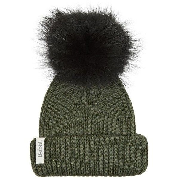Interchangeable Fur Bobble Hat (6.835 RUB) ❤ liked on Polyvore featuring accessories, hats, bobble hat, fur pom-pom hats, fur hat, pompom hat and bobble beanie