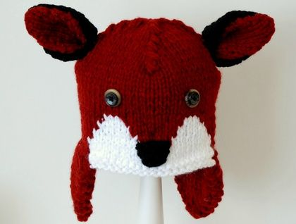 knitted Fox hat 3 - 8 years
