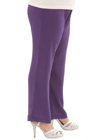 BABILONIA. Pantalón de seda lisa con elástico en la cintura