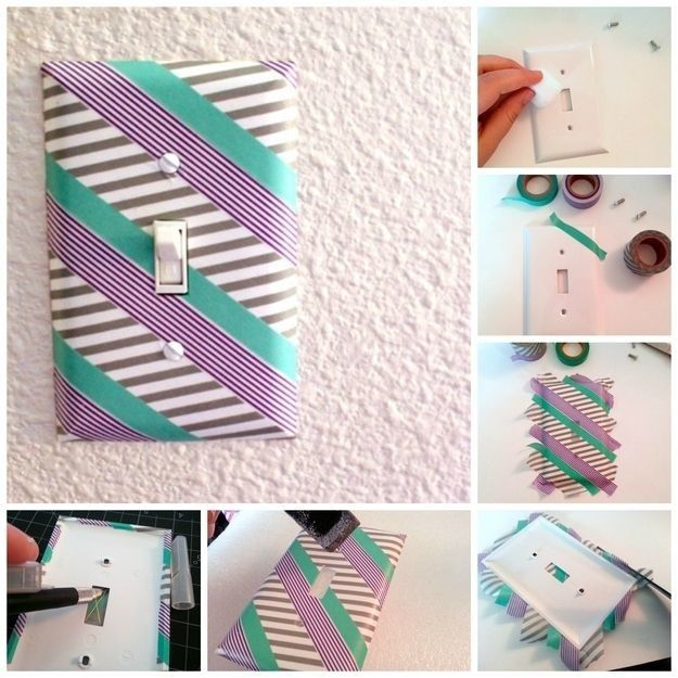 Turn a regular light switch into a trendy one.