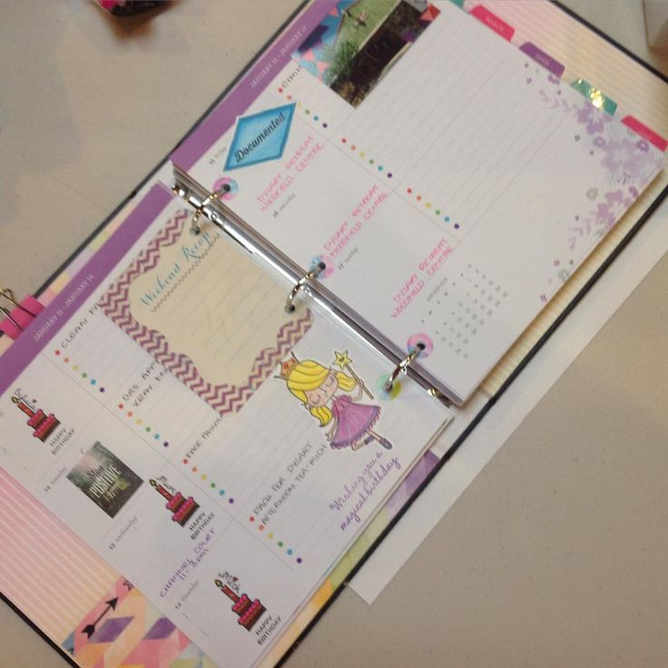 CTMH Everydaylide Planner: have been decorating my planner :)) with the Birthday Princess stamp set