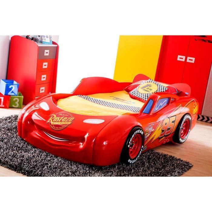 lit cars mcqueen disney - Achat / Vente structure de lit - Soldes* d'été Cdiscount