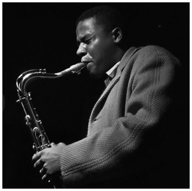 Wayne Shorter. During  the recording session of Freddie Hubbard's  Ready for Freddie album, 1961. ©  Francis Wolff