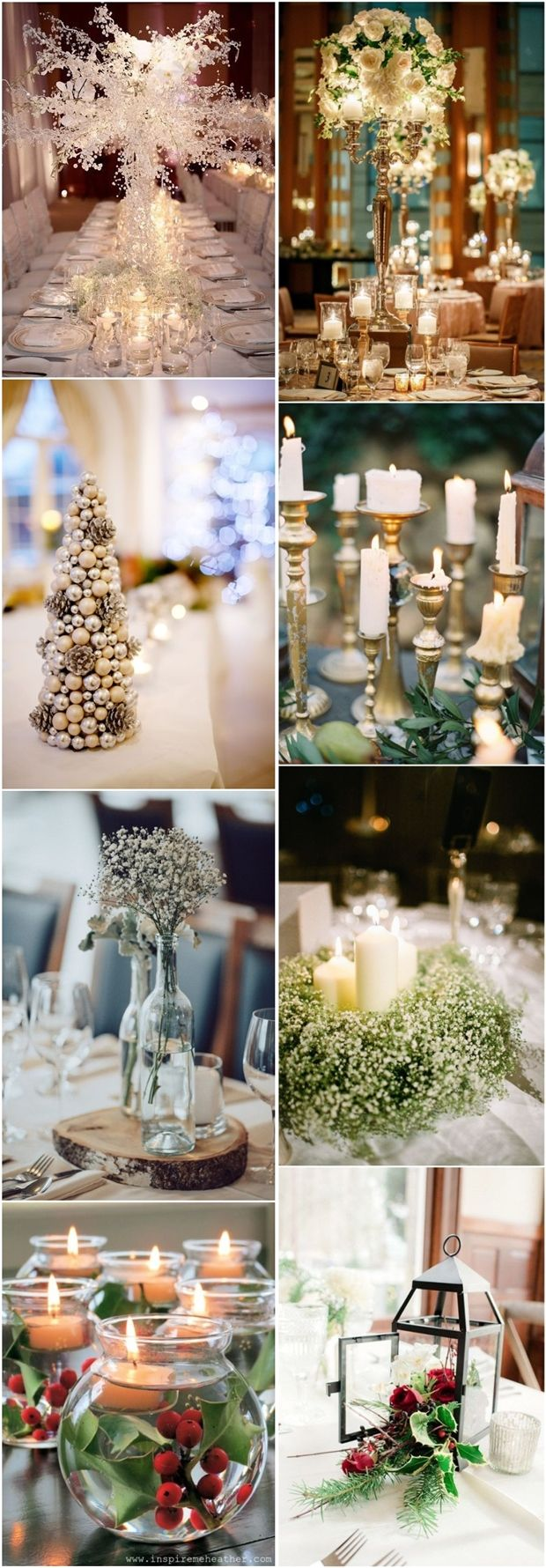 Best 25+ Silver wedding centerpieces ideas on Pinterest | Wood slab  centerpiece, Country wedding decorations and Simple wedding decorations