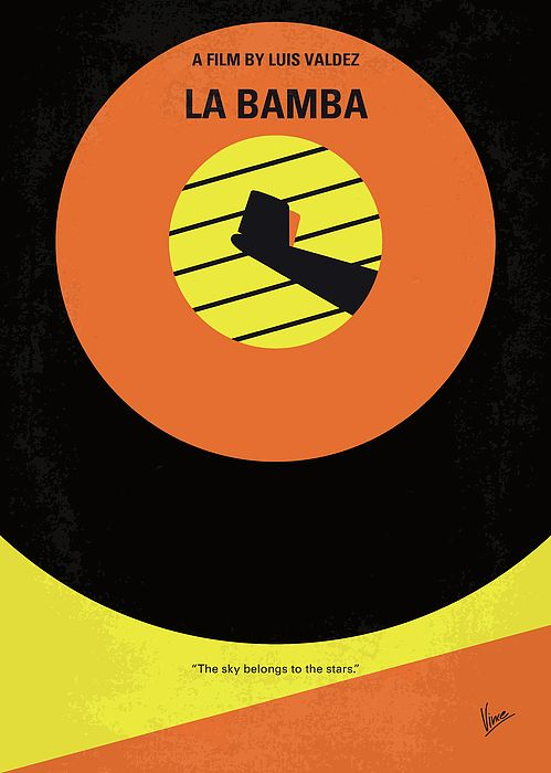 La, Bamba, Ritchie, Valens, true, story, rock, roll, singer, plane, crash, Pacoima, California, star, donna, buddy, holly, day, music, died, Chicano, minimal, minimalism, minimalist, movie, poster, film, artwork, cinema, alternative, symbol, graphic, design, idea, chungkong, chung, kong, simple, cult, fan, art, print, retro, icon, style, sale, gift, room, wall, hollywood, classic, comedy, original, time, best, quote, inspiration