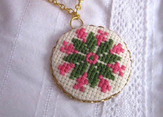 Feryfolk pendant needle point costume by UkrainianEasterEggs