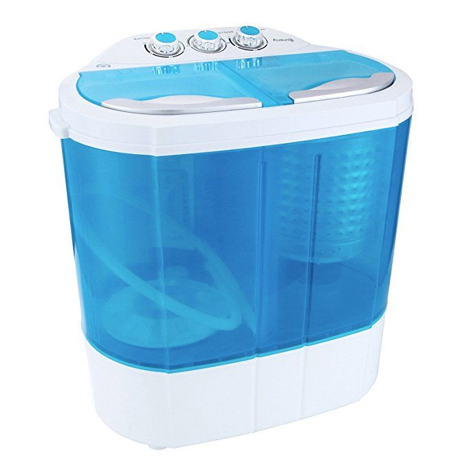 Portable Washing Machine Spin Dryer Compact Twin Tub Durable