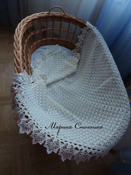 Delicadezas en crochet Gabriela: Mantilla bebé