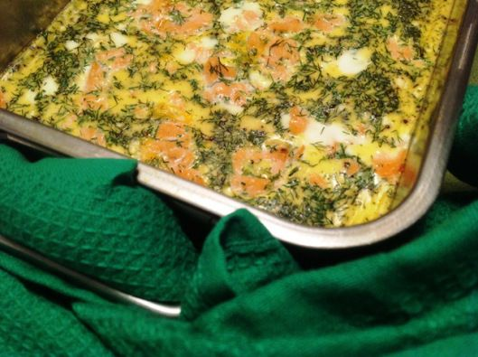 Simple Salmon Frittata (Dukan Protein Days)