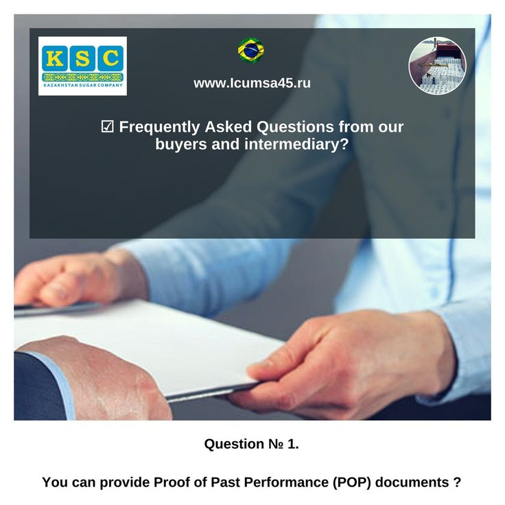 ☑ You can provide Proof of Past Performance (POP) documents ?  For example: Bill of Lading, Commercial Invoice, Certificate of Origin, Certificate of Quality and Quantity Issued by SGS, Phyto-sanitary Certificate, Contracts, Trading license, export license including passport copy.  Answer: Any real and serious supplier won't provide Proof of Past Performance (POP) documents for three reasons!  - signed Contract NCNDA (about nondisclosure) transactions with buyer - this direct violation of…