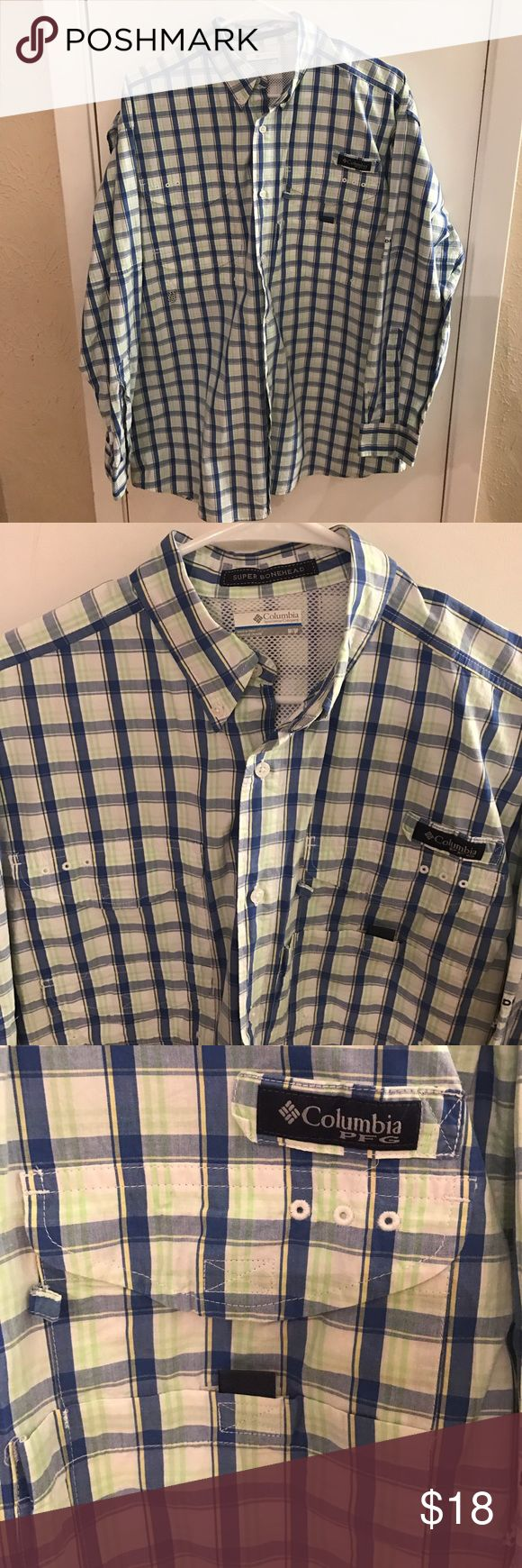 Columbia PFG shirt Shirt Columbia sportwere Shirts Casual Button Down Shirts