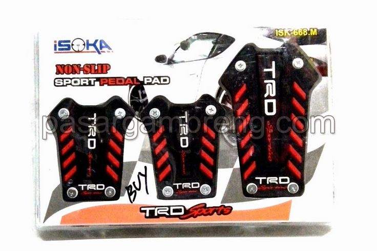 Pedal Gas TRD Sports Black Red ISOKA - Pasar Gambreng