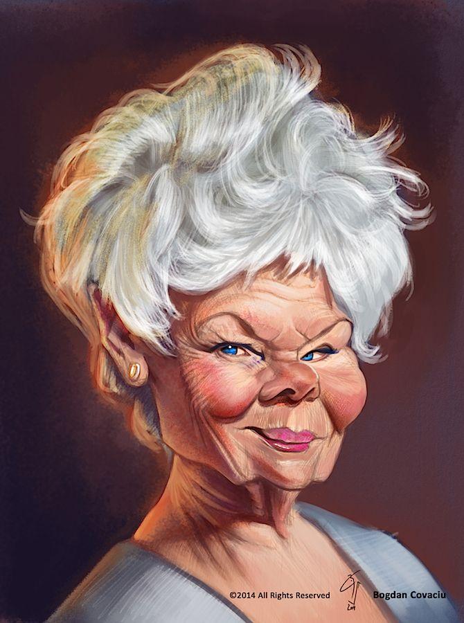 Judi Dench by bogdancovaciu on deviantART