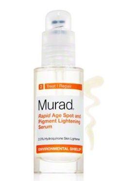 Rapid Age Spot and Pigment Lightening serum – Murad  Read More: http://www.hatescars.com/