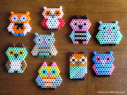 Perler Bead Owls! OMG too cute!