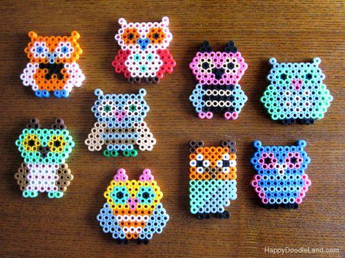 Perler Bead Owls! OMG too cute!