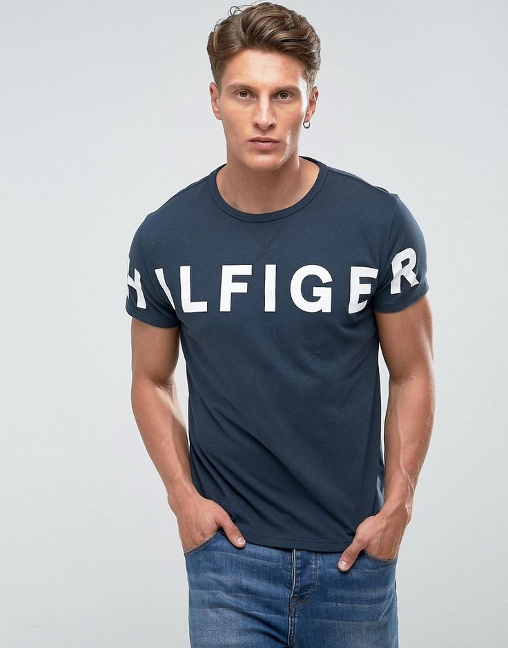 Get this Hilfiger Denim's printed t-shirt now! Click for more details. Worldwide shipping. Tommy Hilfiger Denim T-Shirt Chest Large Logo in Navy - Navy: T-shirt by Hilfiger Denim, Soft-touch jersey, Crew neck, Hilfiger Denim logo, Fixed trims, Regular fit - true to size, Machine wash, 100% Cotton, Our model wears a size Medium and is 185.5cm/6'1 tall. An offshoot of the iconic Tommy Hilfiger label, Hilfiger Denim offers covetable designs with a firm nod to classic American style. A denim…