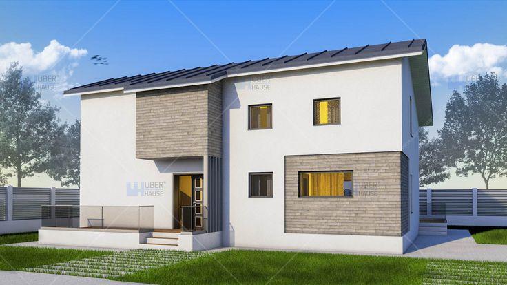 Proiect casa Parter + Mansarda 165 m2 - Aselya. Mai multe detalii gasiti aici: https://www.uberhause.ro/proiect-casa-parter-plus-mansarda-165-m2-aselya