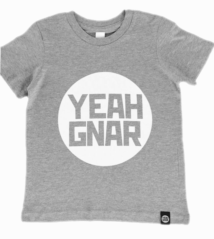 Kids + Youth Tee - Grey/White / Yeahgnar