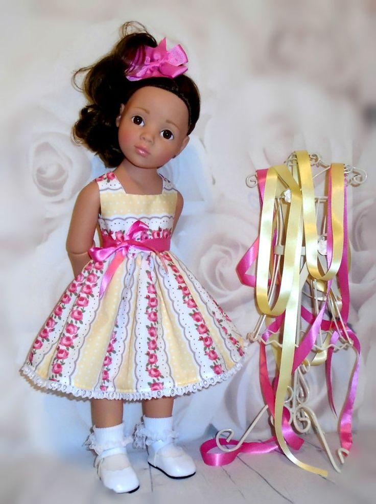 Dress & hair bow Gotz Hannah/happy kidz/designafriend dolls by Vintagebaby