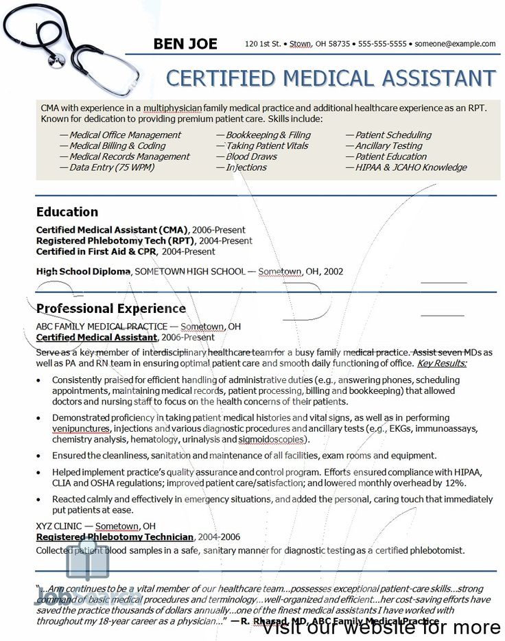 Medical Assistant Student Resume Sample, resume examples