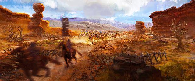 746 fue también un año de gran importancia.  Al oeste de las fronteras de Tang, el califato omeya, un antiguo socio comercial de la Tang implosionó en una serie de guerras civiles.  En la oriental provincia persa de Khorasan, los abasíes comenzaron su rebelión contra sus señores omeyas, resultando en la pronta proclamación de un nuevo califa abasí en 750.