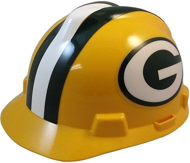 NFL Team Safety Helmets with One Hand Adjustable Suspension Suspension - GREEN BAY PACKERS  http://allstarsportsfan.com/product/nfl-team-safety-helmets-with-one-hand-adjustable-suspension-suspension/?attribute_pa_color=green-bay-packers  Great way to show your team spirit for your favorite NFL team Perfect to wear on the job or at the game Makes a great gift for any football fan