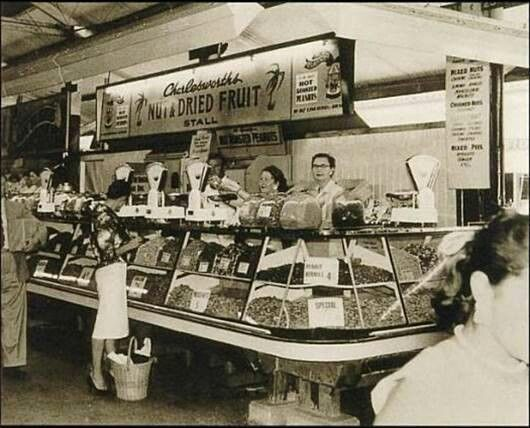 Adelaide's Central Market. Charlesworth Nuts. Opened in the 1950's by Herbert Charlesworth.