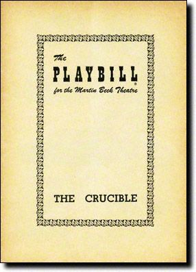 an analysis of the salem witch trials in the book the crucible by arthur miller The crucible is a 1953 play by american playwright arthur miller it is a  dramatized and partially fictionalized story of the salem witch trials that  have  been arrested on charges of witchcraft martha corey for reading suspicious  books  on imdb the crucible (1996 film) on imdb the crucible study guide,  sparknotes.