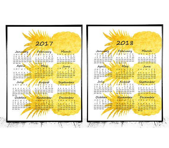 2017 2018 Calendar 2018 Desk Calendar 2017 2018 Planner 2017