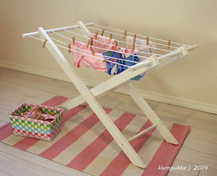 wooden clothes holder for children