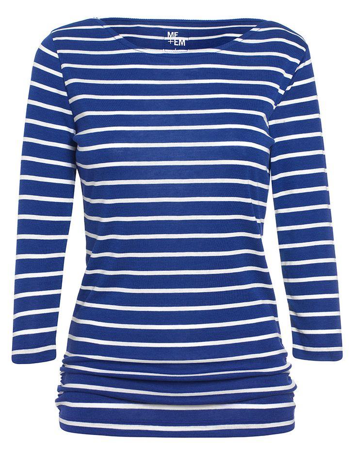Breton reverse striped shirt Me+Em